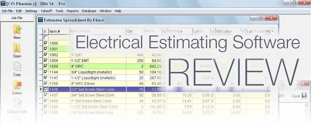 Electrical estimating software review