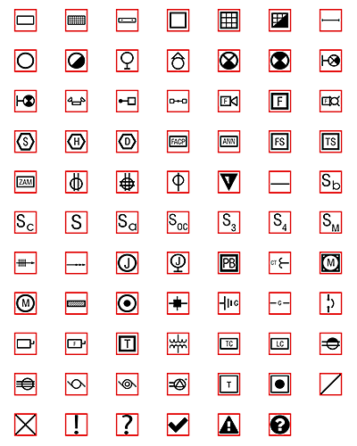 Red-boxed symbols offer one more style option.