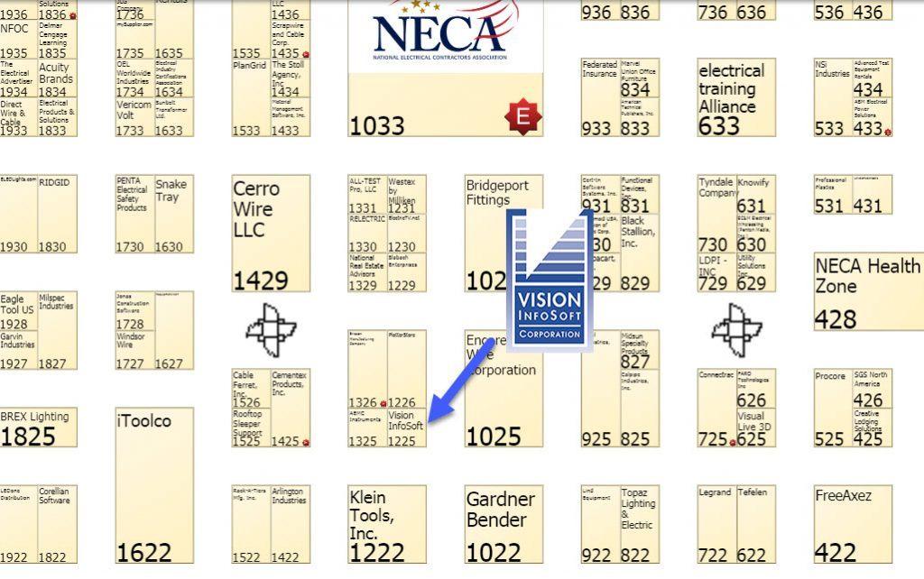 NECA 2018 Map